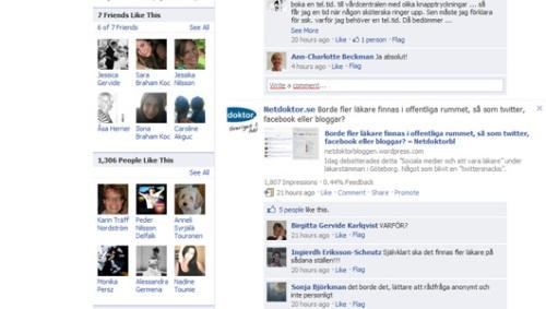 Läkare och patienter vänner på facebook?