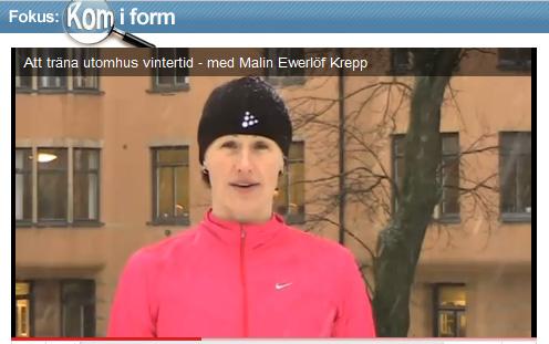 Träna utomhus med Malin Ewerlöf Krepp