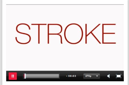 Stroke - webbfilm om stroke och vikten av varaktig behandling